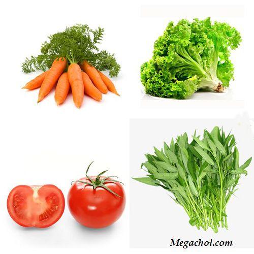 Các loại rau, củ, quả cho gà thay lông
