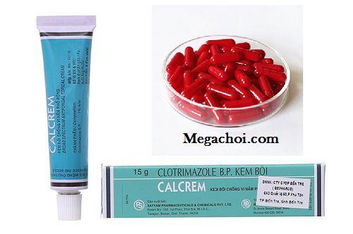Calcrem kết hợp nhộng lao đỏ